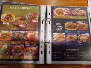 tempat nongkrong terbaru di Medan, Menu makanan di Warung Kudeta