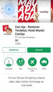 Aplikasi Cari Aja di Play Store, aplikasi pencarian tempat sekitar