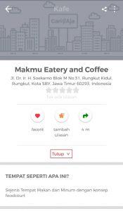 tempat nongkrong asik dan murah di Surabaya, Makmu Eatery and Coffee di aplikasi Cari Aja