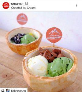 cafe unik di Surabaya | Creamel Ice Cream. Sumber: IG @creamel_id