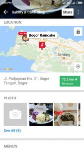kue artis di Bogor, Bogor Raincake