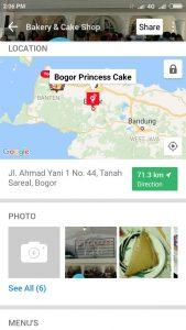 kue artis di Bogor, Bogor Princess Cake