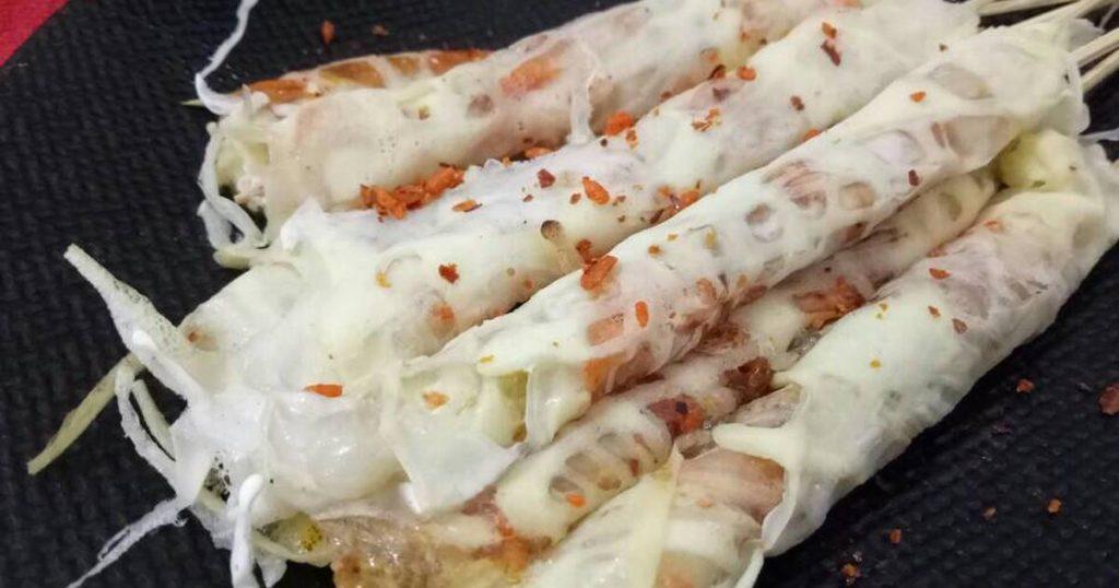 jajanan anak SD zaman now, Papeda telur gulung, Anakkota.com