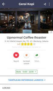 roti bakar di Jakarta, Upnormal coffee roaster