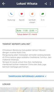 Chinatown Bandung, Chinatown Bandung di Aplikasi Cari Aja