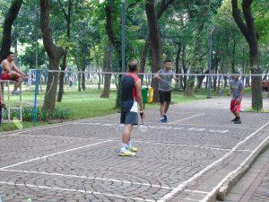 Tamamn Kota di Jakarta, Lapangan Bulutangkis Taman TBD Monas