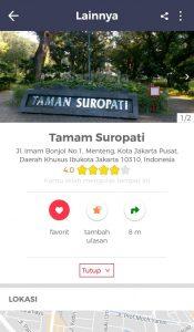 Taman Kota di Jakarta, Review Taman Suropati di Cari Aja