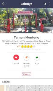 Taman Kota di Jakarta, Review Taman Menteng di Aplikasi Cari Aja