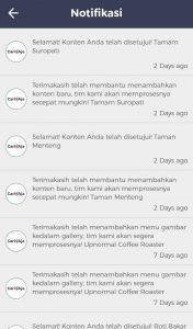 Taman Kota di Jakarta, Konfirmasi Penambahan Tenpat di Aplikasi Cari Aja