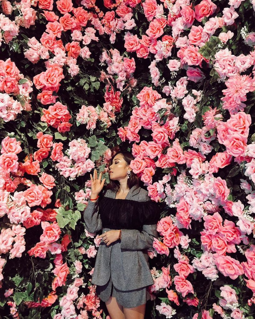 spot instagramable Haluu World, Bed of Roses, Anak Kota
