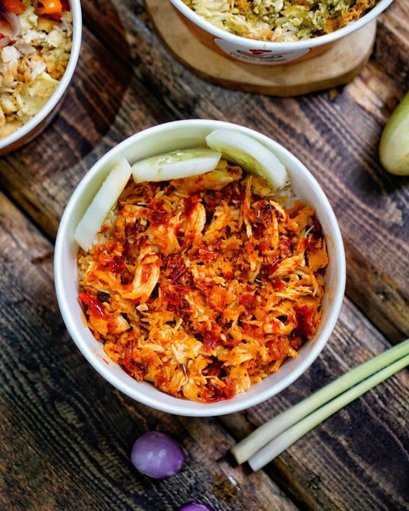 ayam cobek cabe-cabean, ayam kekinian di Jakarta, rice cup kekinian di Jakarta, Anak Kota